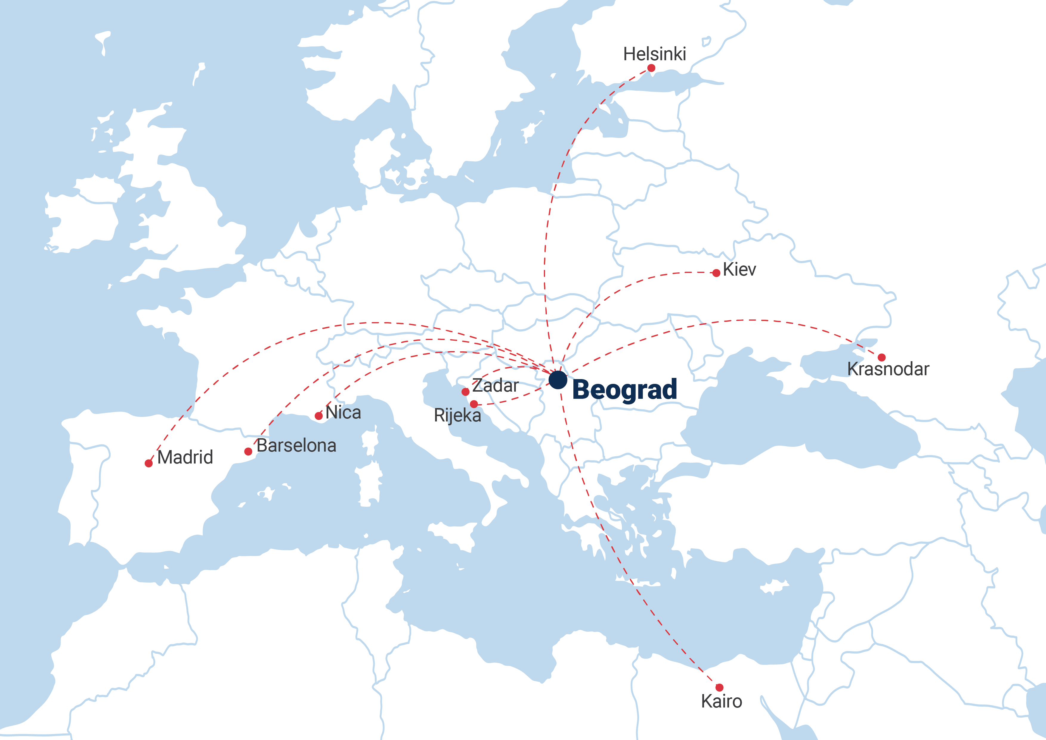 Er Srbija od juna uvodi devet novih linija