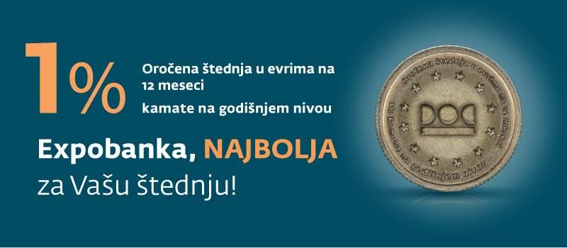 Expobanka najbolja za Vašu štednju