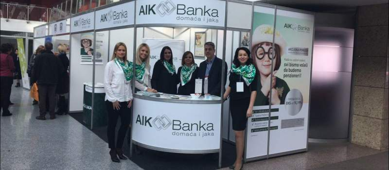 AIK Banke na Sajmu penzionera u Novom Sadu