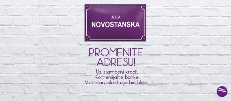 Promenite adresu uz stambeni kredit Komercijalne banke