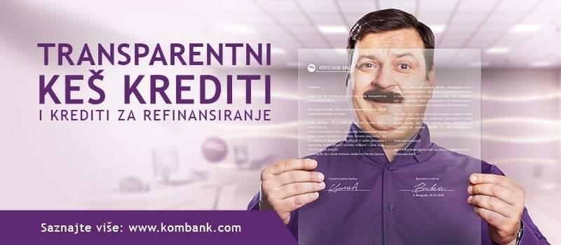 Pogledajte ponudu keš kredita Komercijalne banke