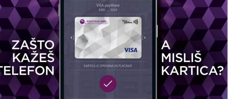 KOMePAY kartica za beskontakno plaćanje telefonom