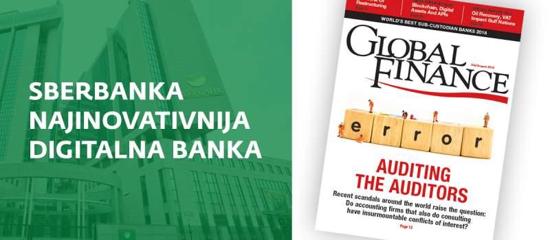 """Časopis """"Global Finance"""" dodelio priznanje Sberbanci"""