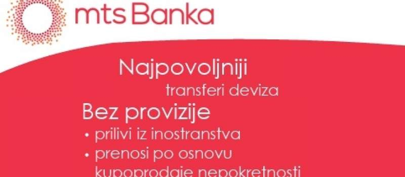 Mts banka ad Beograd – Transfer sredstava u devizama
