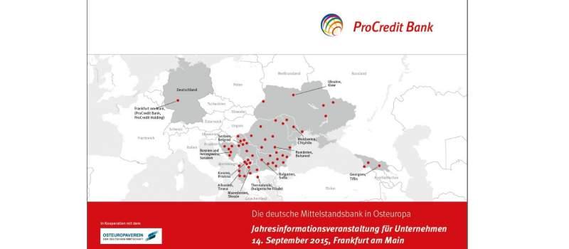 ProCredit banka se predstavlja nemačkim kompanijama