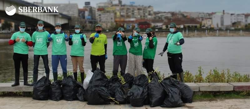"Sberbank Srbija sakupila preko 600 kg otpada u akciji ""Očistimo priobalje Beograda"""