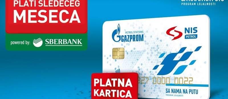 Plaćanje na odloženo uz Sberbank i NIS platnu karticu