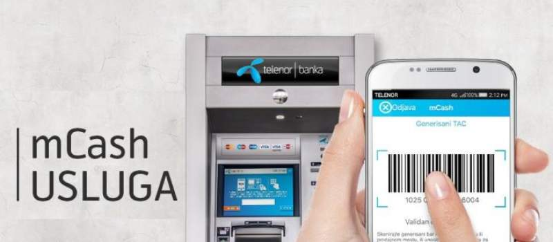 MCash na bankomatima Telenor banke