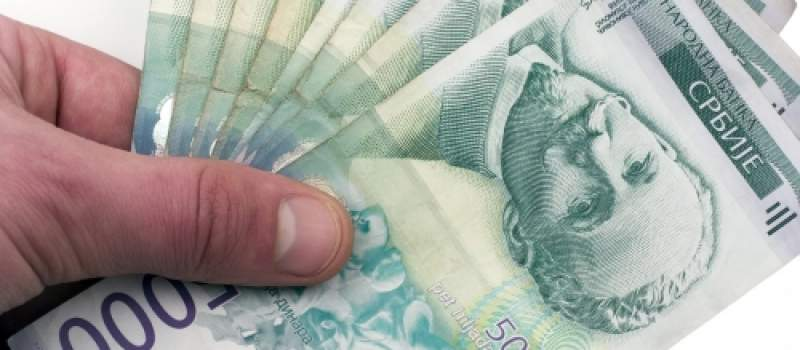 Dinar slabi 0,1 procenat, kurs 123,2456