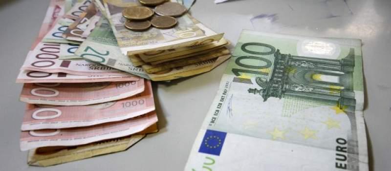 Srednji kurs dinara danas 123,4071