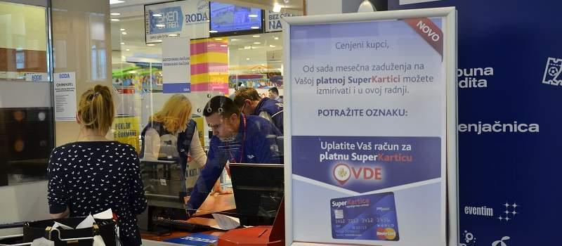 Obaveze po Super Kartici možete da plaćate i na kasi