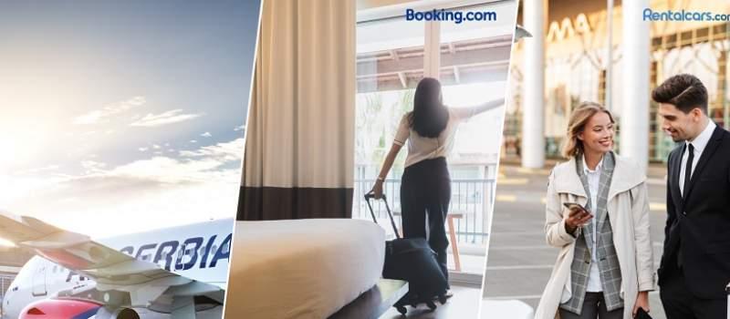 Air Srbija sklopila partnerstvo sa Booking.com i Rentalcars.com