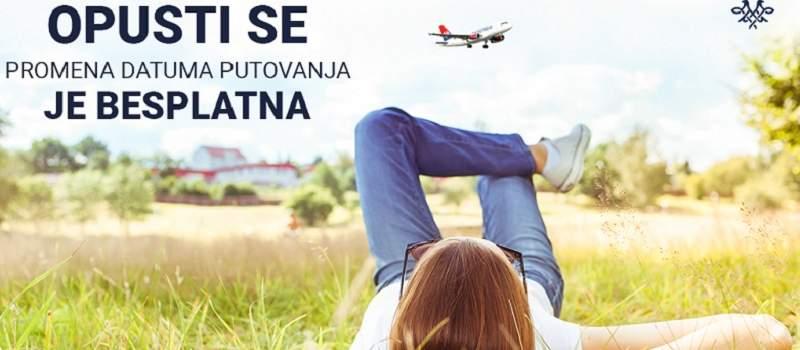 Besplatna promena datuma putovanja na letovima Air Srbije važi i u 2021. godini