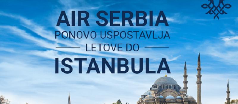 Air Srbija ponovo uspostavlja let do Istanbula