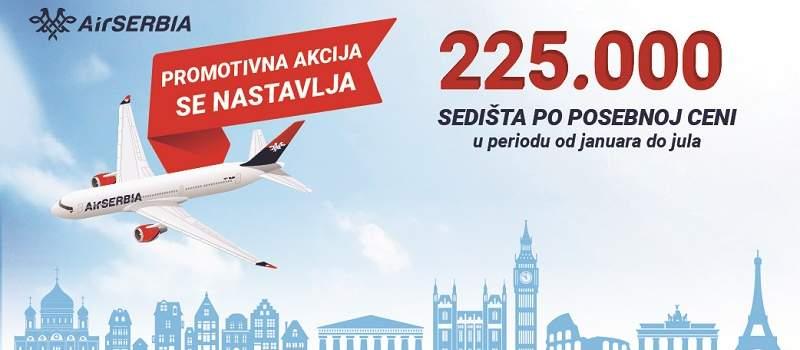 Velika promotivna akcija AIR Srbije produžena do 29. januara