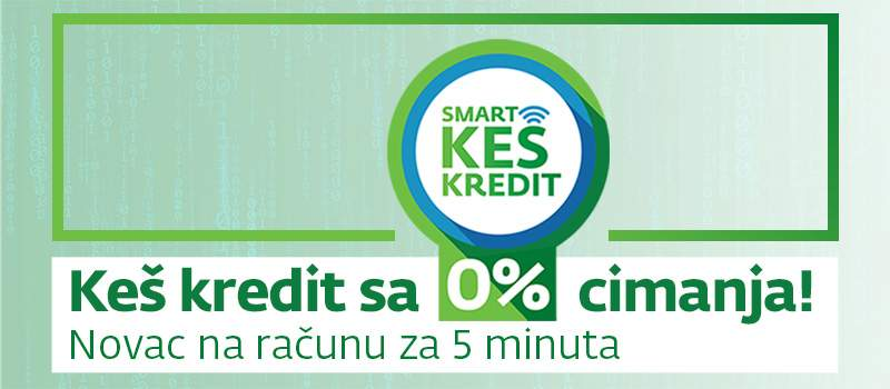 """Smart keš kredit"", jedini 100% digitalni keš kredit"